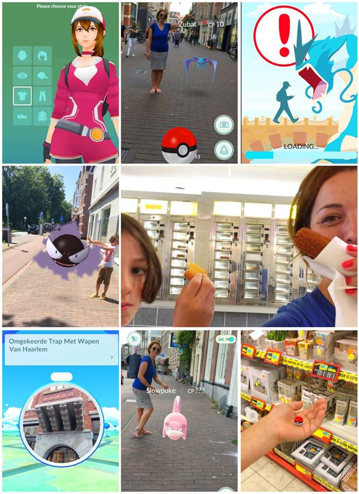 pokemon go onderweg