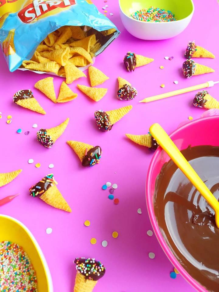 bugles pindakaas chocolade
