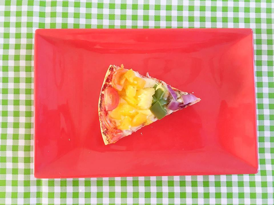 regenboog pizzapunt