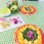 Kidsproof & Veggie Rainbow Pizza's