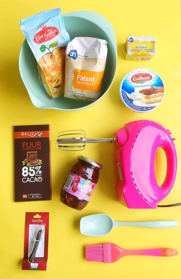 brownietaart-ingredienten
