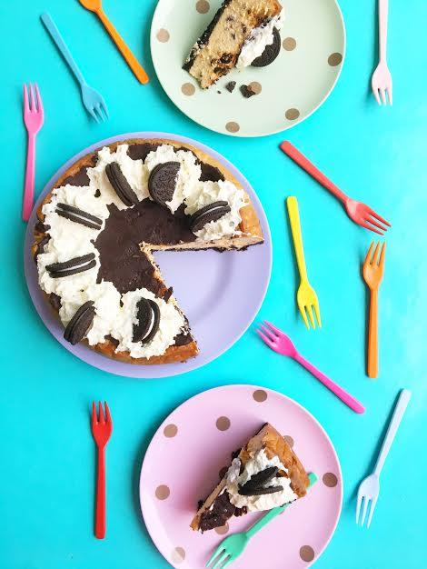 Oreo Lavendel Cheesecake