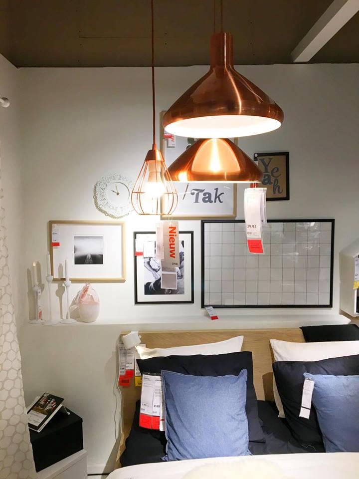 IKEA koperlampen
