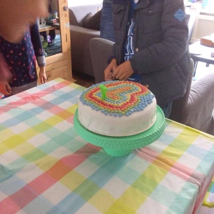 taart met smarties