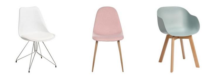 Nieuwe stoelen in pasteltinten - Kitchenette met stoelen ...