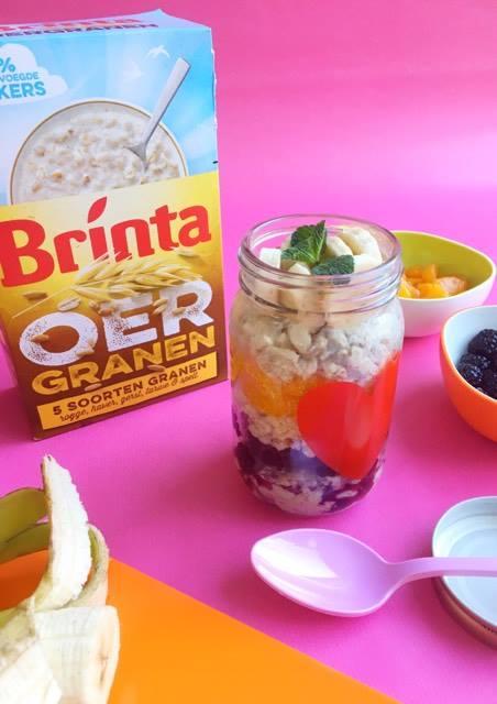 vegan ontbijt met brinta oergranen