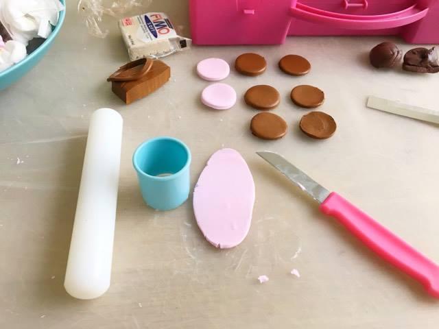DIY taartjes maken van fimo klei