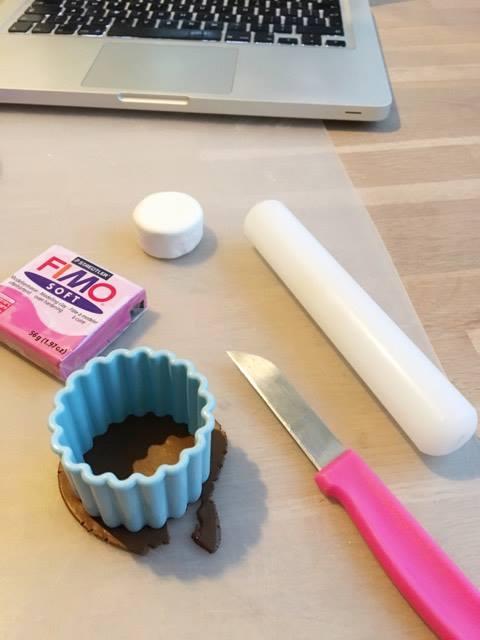 diy fimo taart maken