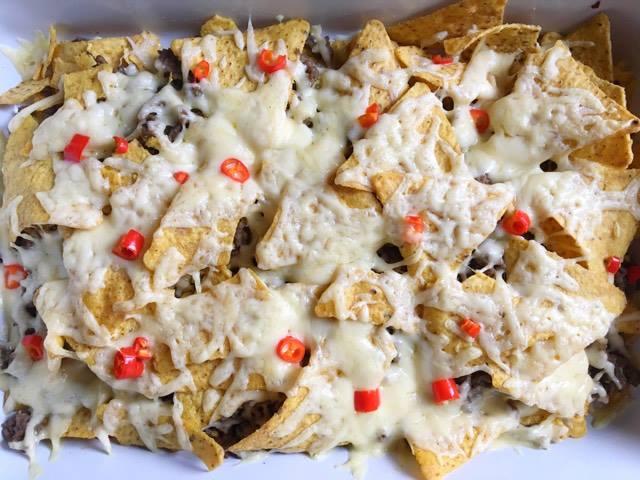 nacho's met gesmolten kaas