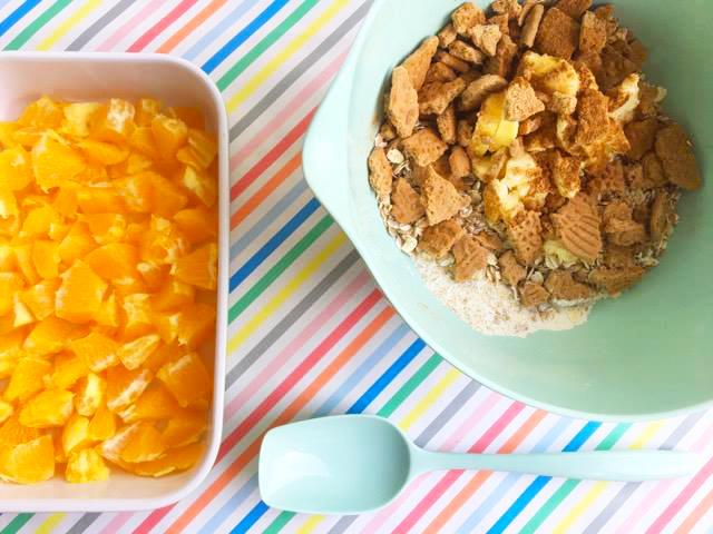 Sinaasappel Speculaas Crumble