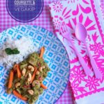 Curry van Courgette & Spinazie met Vegakip