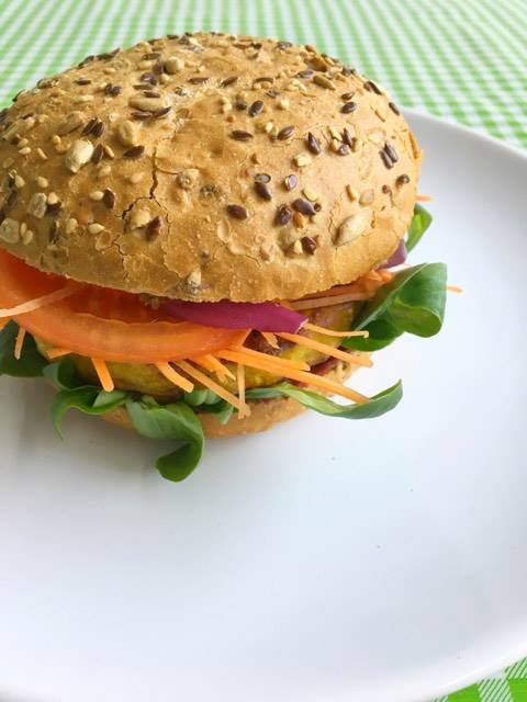rainbow veggie burger