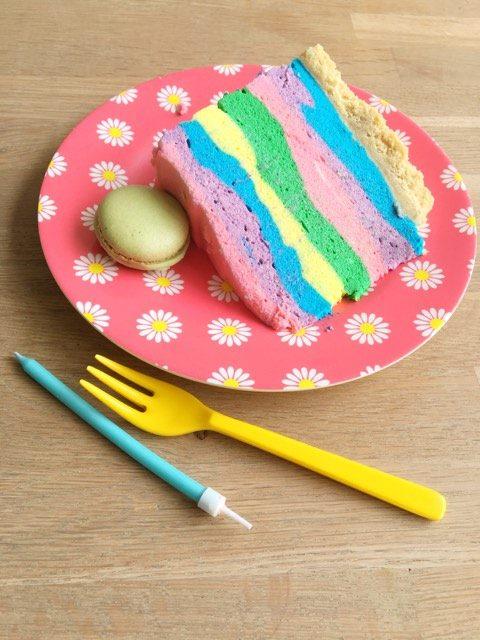 regenboog kwarktaart macarons