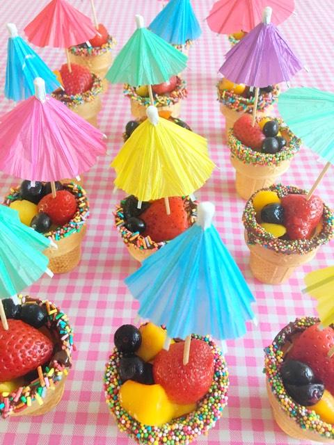 ijsbakjes met fruit