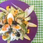 Witlofsalade met Avocado, Ei & Zomerfruit
