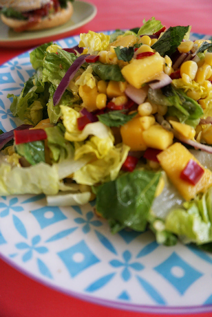 salade mango mais