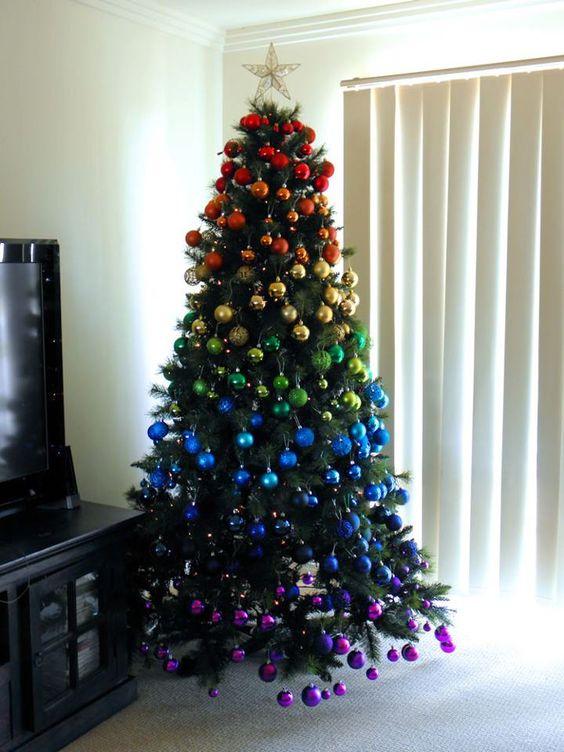 regenboom kerstboom