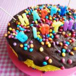 No Bake Banana Split Party Cake