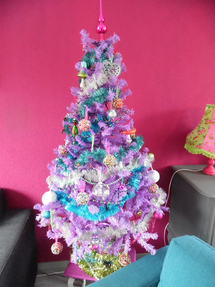 witte kerstboom pastel