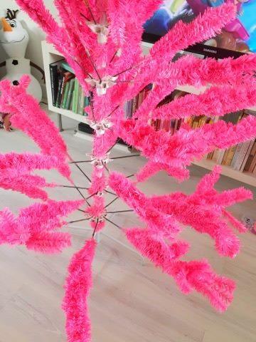 roze kunstkerstboom
