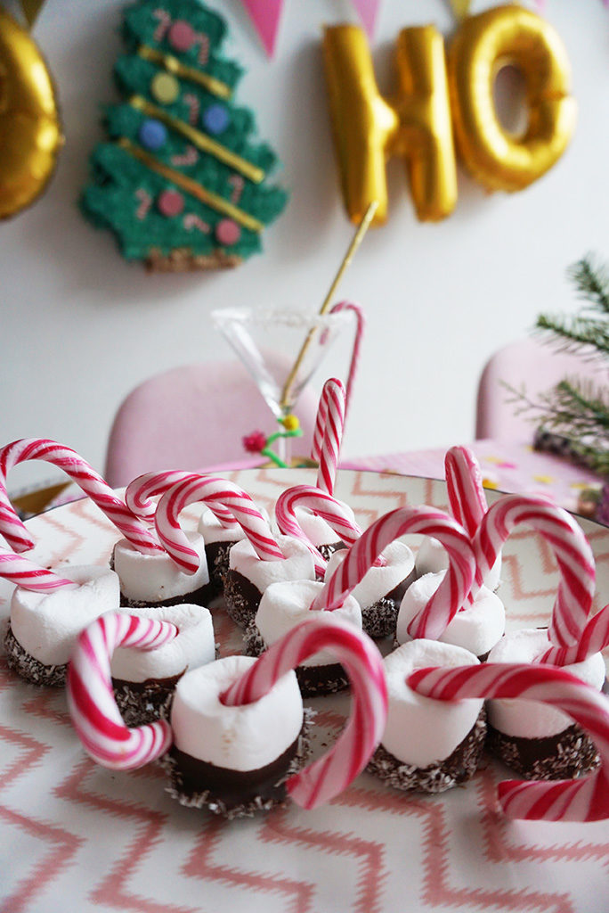 candy canes marshmallows