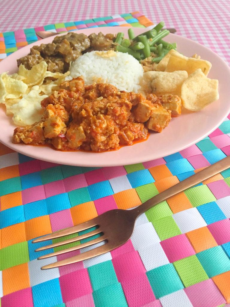 vegan indische gerecht tahoe boemboe bali