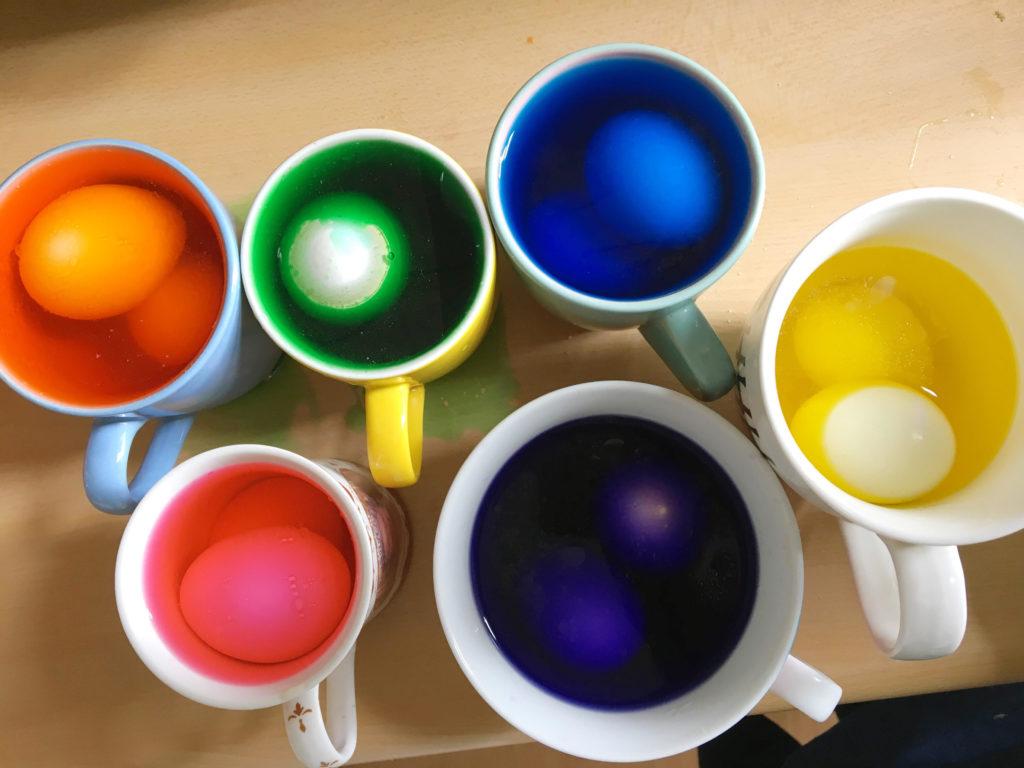 DIY Dip Dye & Marble Paaseieren