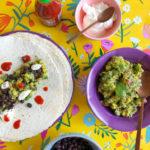 Mexicaanse Wraps met Guacamole, Maïs & Bonen
