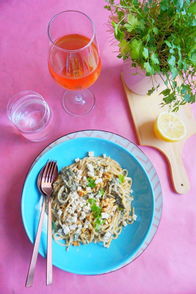 Vega Citroenspinazie met Spaghetti