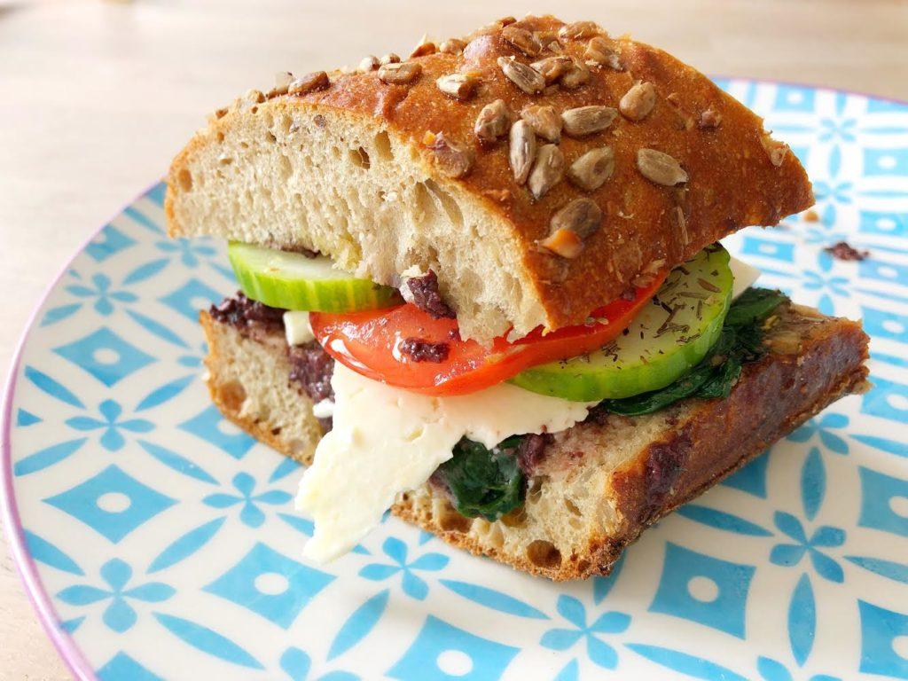 Grieks Broodje Gezond met feta