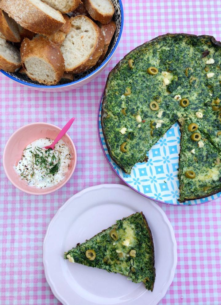 Vega Spinazie-omelet met Olijven