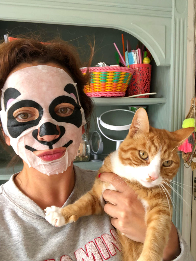 face mask kitty