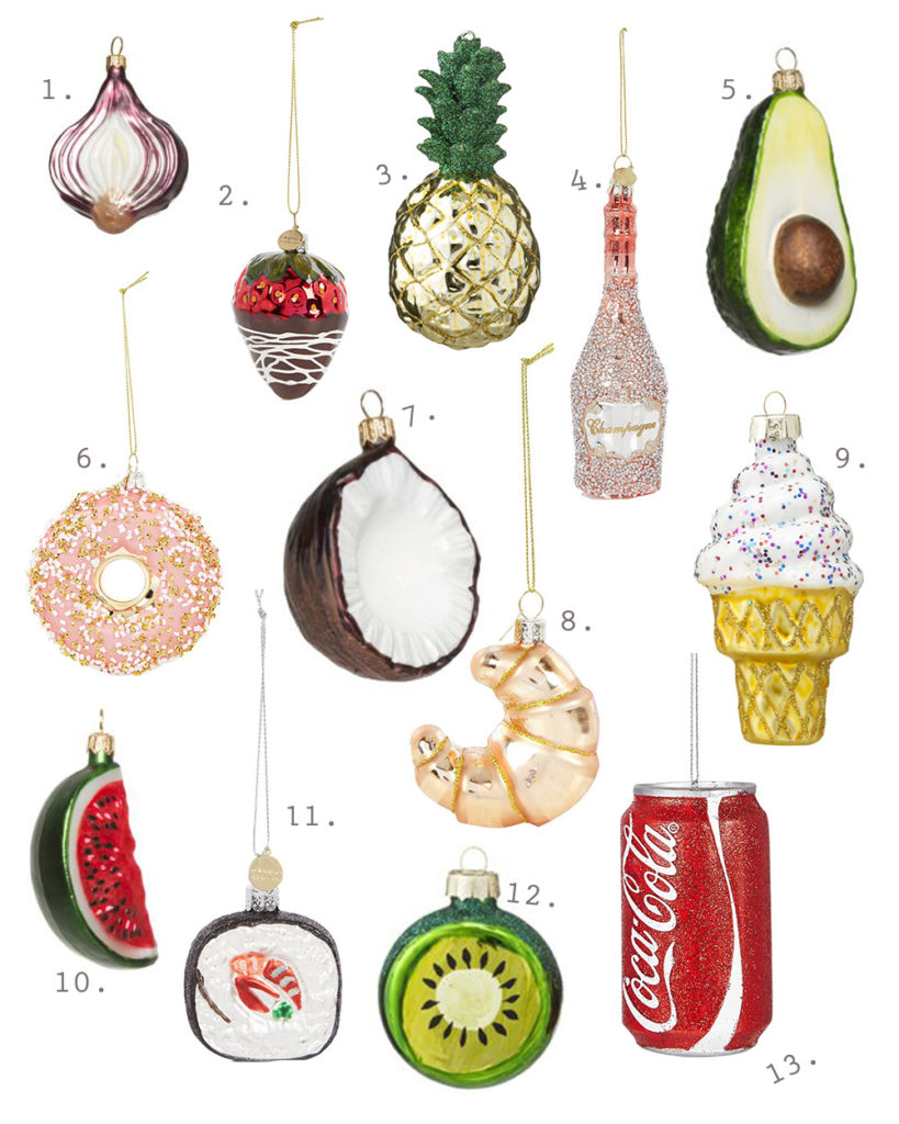 kerstboomdecoraties food
