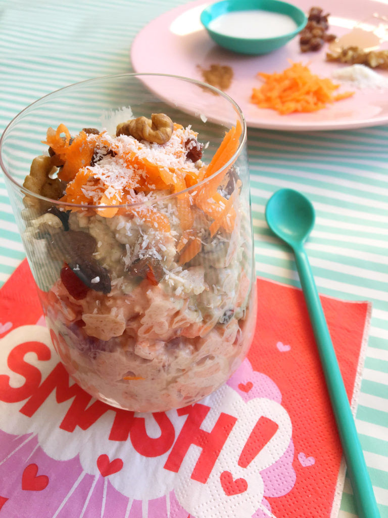 Coco Carrot Cake Overnight Oats