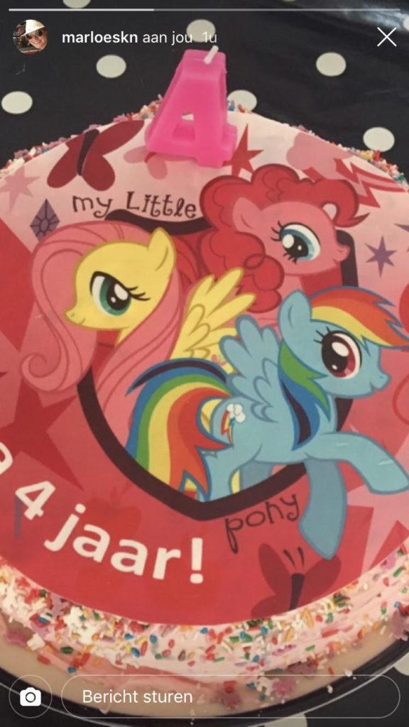my little pony confetti cake