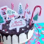 No Bake Minty Xmas Cake + Free Printables